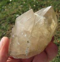 Smoky Citrine Quartz Crystal: Beautiful Sharp Double Point, Hallelujah Junction