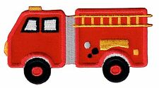 Fire Truck Iron On Embroidered Applique Patch - Kids / Baby / PatchMommy®