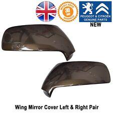 Peugeot 3008 Wing Mirror Cover Covers Caps Cap Paire Gauche & Droite Marron Nouveau