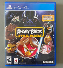 ANGRY BIRDS STAR WARS (Sony PlayStation 4, 2013) PS4 OUT OF PRINT! RARE!