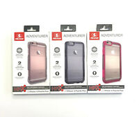 New Pelican Adventurer Case-Clear / Grey / Pink Dual Layer For iPhone 6/6s Plus