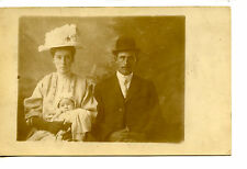 Named Couple & Baby-Oakdale Studio Picture-RPPC-Vintage Real Photo Postcard