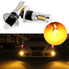 2x High Power Amber Yellow H1 30-SMD LED Bulbs For Fog Lights Driving DRL Lamps
