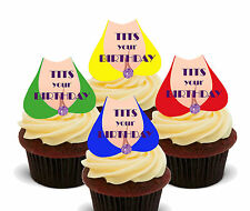Mens' Funny Birthday Edible Cupcake Toppers, Stand-up, 30th 40th 50th 60th 70th