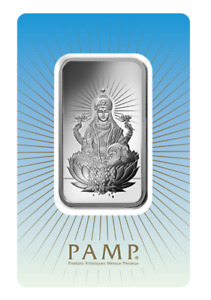 1 oz Pamp Suisse LAKSHMI .999 Fine Silver Bar Classic Design In Assay