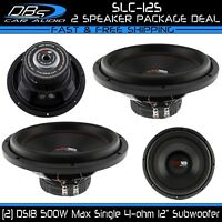 "2 DS18 SLC-12S 12"" Subwoofer 1000 Watt 4 ohm SVC 12 inch Bass Sub Woofer"