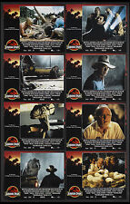 JURASSIC PARK STEVEN SPIELBERG DINOSAURS 1993 LOBBY CARD SET OF 8 NEAR MINT