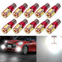 10Pcs T10-3014-57SMD Bright LED Canbus Error Free Car Wedge Light Bulb Lamp