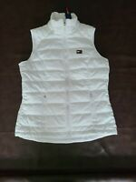 NWT Tommy Hilfiger Sport Woman's Full Zip Vest White Size M pockets Quilted
