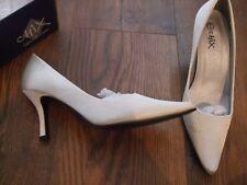 size 3 euro 36 ivory satin women heeled shoes Wedding Bridesmaid