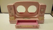 Vintage Sanrio HELLO KITTY & Bunny Vanity Mirror Ballerina w/ Drawer 2001