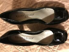 Worn Twice - White House Black Market Black Peep Toe Pump w/black embellishmt 8M