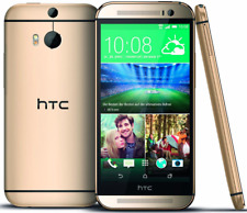 """HTC One M8 AT&T Unlocked 4G LTE GSM 32GB 5"""" Android Smartphone Gold"""