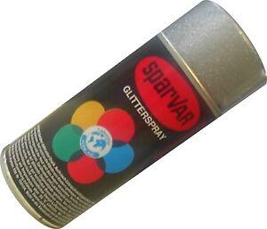 Glitter Glitzerspray 150ml Sparvar Lackspray silber Glitzerlackspray Spray