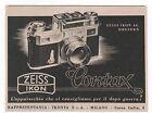 Pubblicità epoca 1943 CONTAX ZEISS IKON FOTO advert werbung publicitè reklame