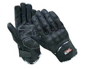 Swift Wear Vented Leather Motorbike Motorcycle Summer Gloves Knuckle Protection
