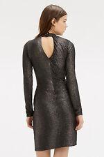 BNWT Oasis Crinkle Foil Highneck Dress size M