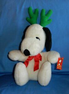 """Dakin Peanuts Snoopy Reindeer Deer Christmas 16"""" Plush w Tag"""