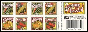 US 5004-5007 5007b Summer Harvest forever booklet (20 stamps) MNH 2015