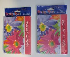 Fabulous Floral Party / Dinner Invitations by DesignWare - Two Sets of Eight