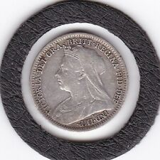 1899   Queen  Victoria  Threepence  (3d)  Silver (92.5%) Coin