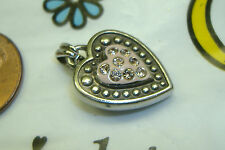 Nwot Brighton pink crystal dots heart charm pendant for necklace New