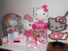 SANRIO HELLO KITTY LOT COLLECTIBLES BLIP Doll, Pez Set, Alarm Clock Backpack etc