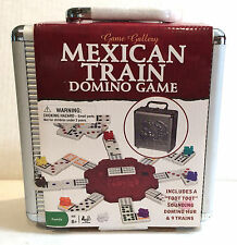 Game Gallery Mexican Train Domino Game NEW In Aluminum Case