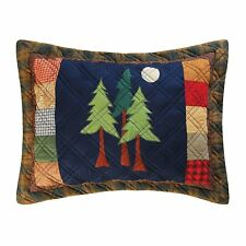 TIMBERLINE STANDARD SHAM : LODGE CABIN PINE TREES MOUNTAIN FOREST PILLOW COVER
