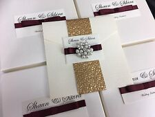 Luxury Boxed Wedding Invitation Personalised And Any Colour