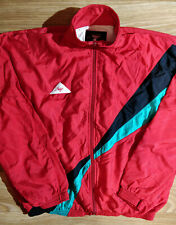 Calanni ITALY Vintage Mens Tracksuit Top Jacket Windbreaker Running Lausanne Red
