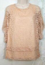 Monamie womens lace blouse top size XL New