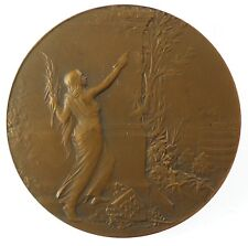 France art nouveau press newspaper telegraph LE MATIN bronze 50mm