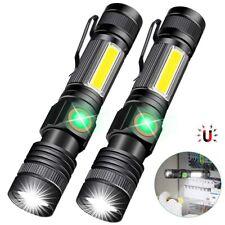 5000Lumen LED Pocket Super Bright Flashlight Magnetic Torch with Cob Sidelight W