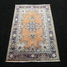 Seidenteppich Seide 117 x 78 cm Orient Teppich Brücke Perserteppich Silk Carpet