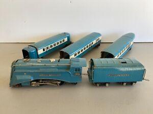 Lionel Blue Streak 265E Loco w/ 617 618 619 Passenger Cars VG+ to EX Prewar