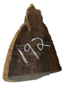 "Beautiful African Blackwood Live Edge Slab/Burl/Wood Blank 21""x6""x2"", #192"