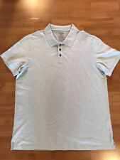 VINCE Men's Oatmeal Short Sleeve Polo Shirt Sz XL