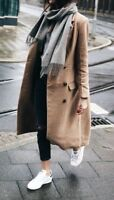 Topshop Beige Slouch Coat Military Trench Oversized Maxi Winter Jacket 6 to 16