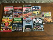 Auto Car Truck Buyers Guides, Tests And Comparisons 1999 (9) Magazines