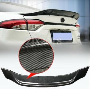 For TOYOTA  corolla 2020 2021 ABS Carbon Fiber Rear Trunk Spoiler Boot Lip Wing