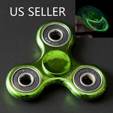 Highlight Hand Finger Spinner Fidget Tri-Spinner 3D EDC Focus Toy Green