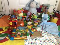 Huge Bundle baby Toys 6 Months + Sensory, Tactile, Rattles, Teether Playmat Etc