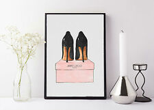 quote life poster picture print jimmy choo watercolour print
