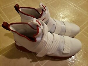 Nike Zoom Lebron James Soldier X 10 Men's Basketball Shoes - Size 17 Red/White