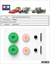 Mini 4wd PRO SUPER SPEED GEAR SET (FOR MS CHASSIS 3.5:1) Tamiya 15349 New Nuovo