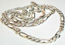 "925 Sterling Silver Chain- Figero Links 31 Grams 26"" Length #I- 2557 # 18"