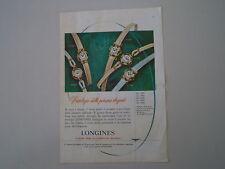 advertising Pubblicità 1958 OROLOGI LONGINES