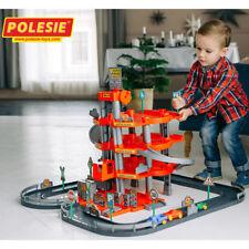 WADER Autogarage Parkhaus 4-Ebenen mit Straße Autos Waschanlage Kinder Spielzeug
