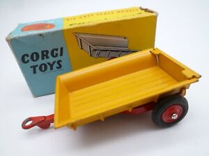 VINTAGE CORGI 51 MASSEY FERGUSON TIPPING TRAILER IN ORIGINAL BOX 1959-64